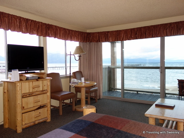 """Corner View Room at Tahoe Lakeshore Lodge and Spa"""