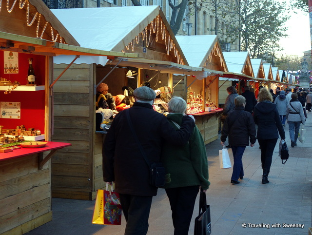 Strolling through a Christmas market in Aix-en-Provence, France
