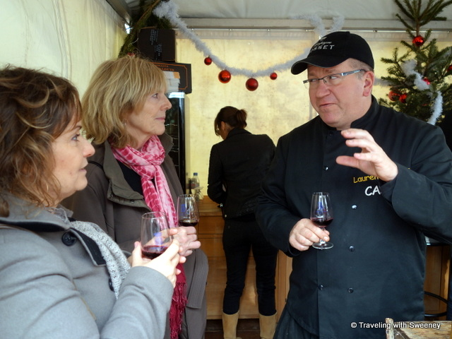 """Tasting wine with Domaine St. Louis Jayne proprietor, Laurent Jayne, Cassis"""