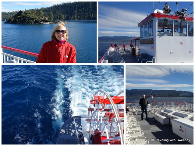 """Aboard the M.S. DIxie II on Lake Tahoe"""