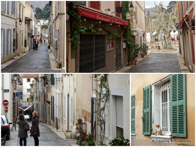 """Walking along the streets of Cassis """