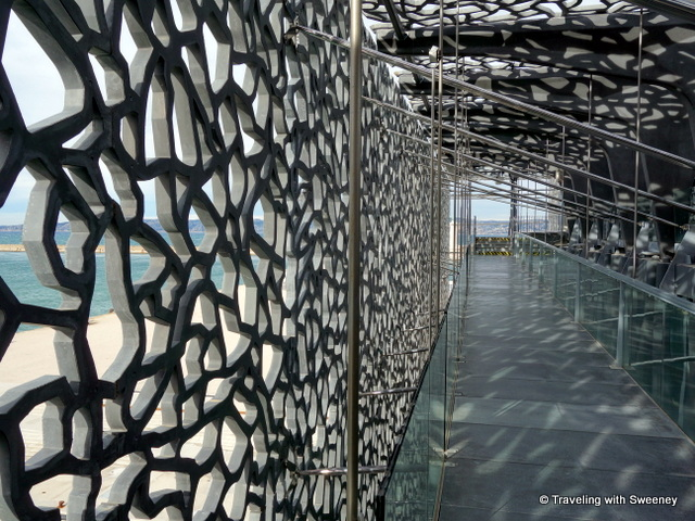 """Intriguing latticework design of the MuCEM exterior, Marseille, France"""