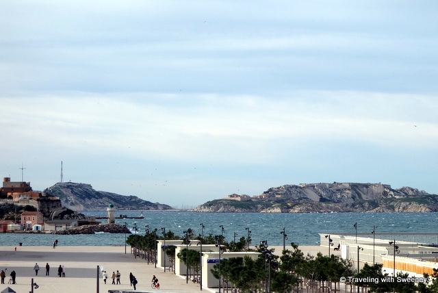 """Esplanade on the waterfront of Marseille"""