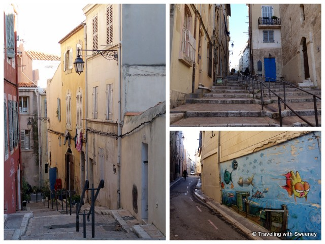 """The streets of Marseille's old district, Le Panier"""