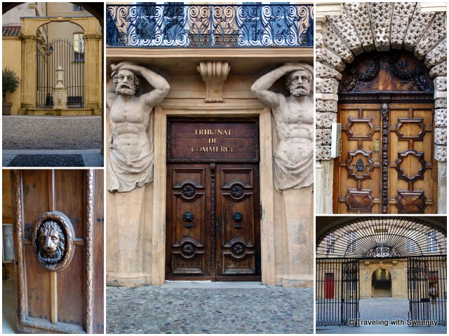 Doors, gates, facades of the Aix-en-Provence historic district