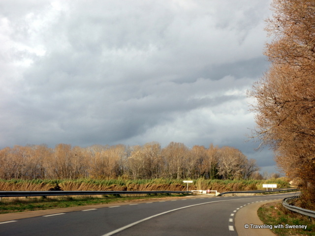 On the highway -- somewhere in Provence in Winter