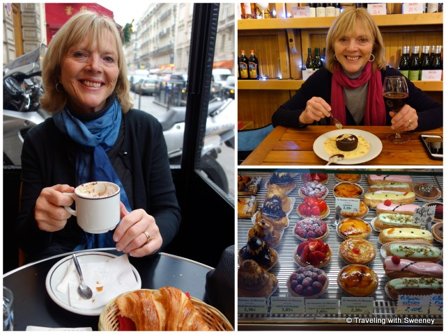 Cappuccino and pastries in Paris