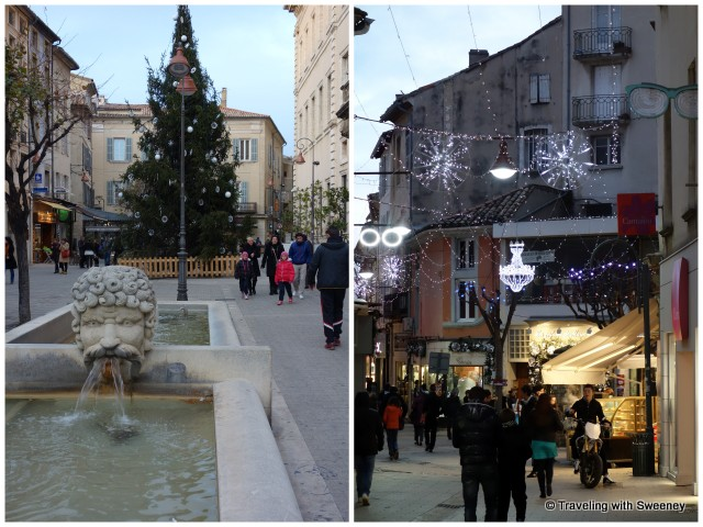 Carpentras, France at Christmas