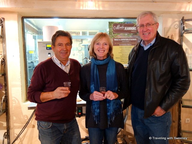 With André Horard at Moulin du Clos des Jeannons in Gordes, France
