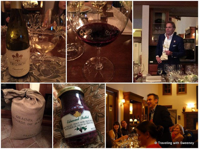 Top: Jean-Charles Boisset and DeLoach wines Bottom: Marc Désarménien and Fallot mustard