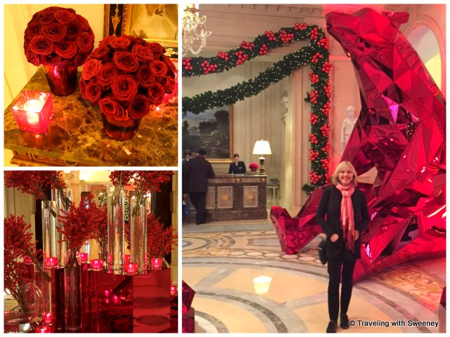 Christmas decor at the Four Seasons George V in Paris
