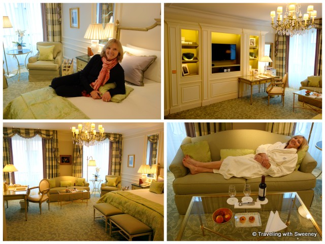 Our Deluxe Room at the Four Seasons Hotel George V Paris