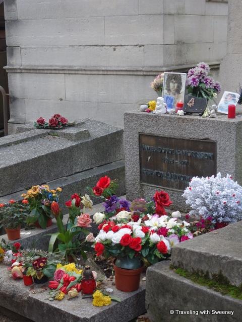 Jim Morrison's grave at Père Lachaise Cemetery, Paris