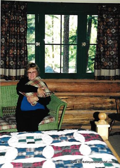 "Carole Terwilliger Meyers' mom in the ""Clark Gable"" room at Weasku Inn"