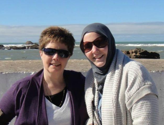 Amanda Ponzio-Mouttaki and her mom in Morocco