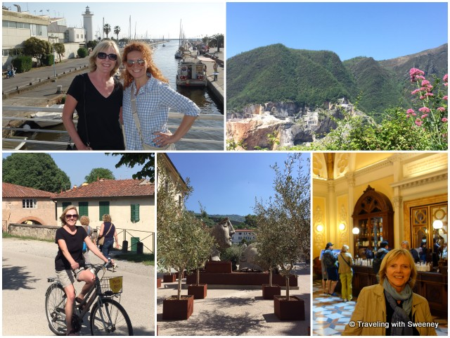 The coastside city of Viareggio, quarries of the Apuan Alps, bicycling on the walls of Lucca, art in Pietrasanta, Santa Novella Pharmacy in Florence