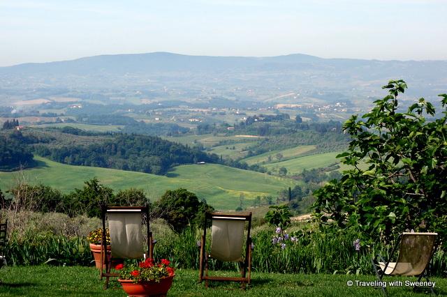 View of Val di Pesa fron La Novellina in Tuscany