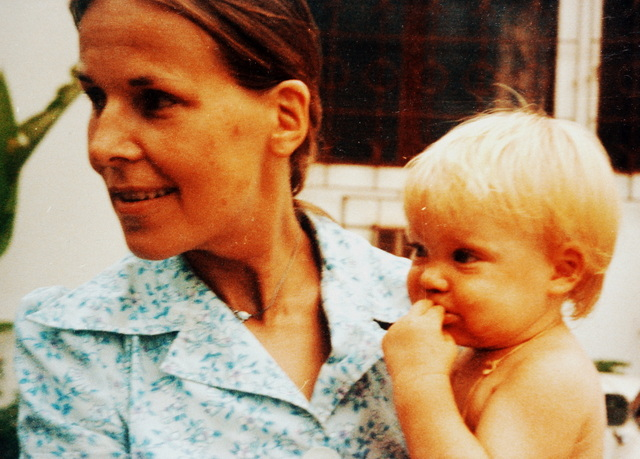 Vera Wolters and her mom
