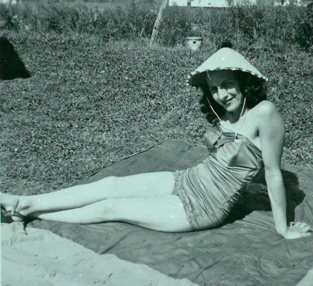 Nathalie Harris' mom in the 1940s