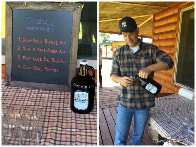 Adam Hauge of Dunluce Brewing serving his special craft brews