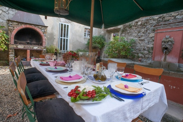 La Fattoria's outdoor dining terrace