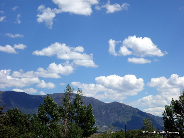 Blue skies and billowy clouds above the mountains of Big Sky Country, Montana