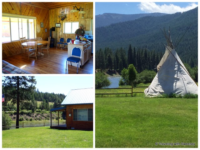 Two cabins and a teepee along the Clark Ford can be rented through Rugg's Outfitting