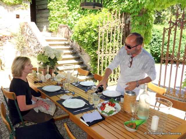 Lunch al fresco with La Fattoria villa owner