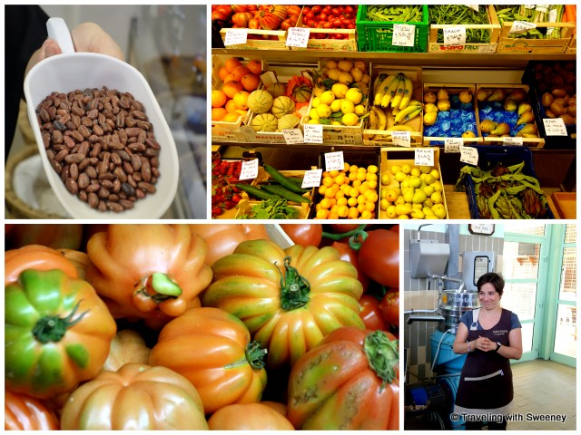 Legumes and vegetables, Canestrino heirloom tomatoes, olive mill tour with Elisa