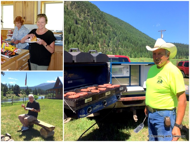 BBQ lunch along the Clark Fork River with Ray and Jeanne Rugg