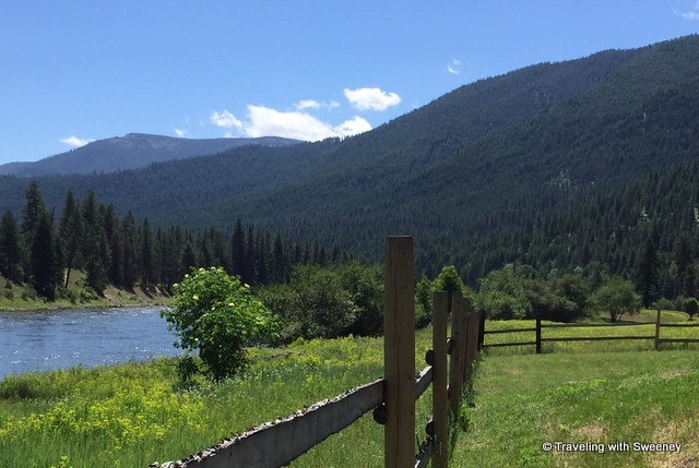 Beautiful spot for our pre-ride lunch along the Clark Fork River, Superior, Montana