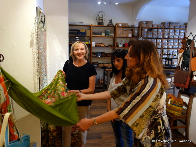 Francesco Bojola Boutique in Barberino Val  d'Elsa with Susanna Civeli and Fiamma Lazzeri