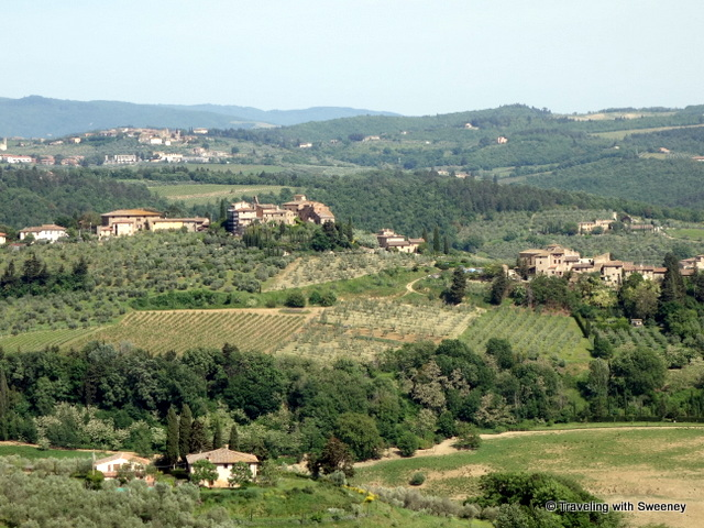 Overlooking Chianti Classsico region of Tuscany from Barberino Val D'Elsa