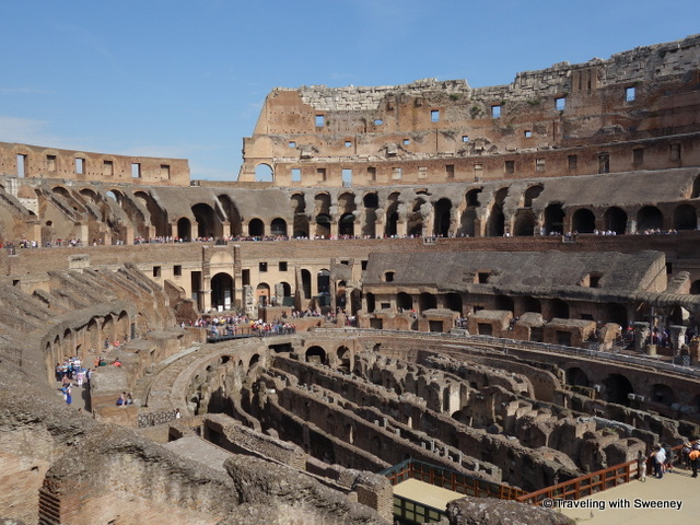 The maze of passageways and chambers beneath the floor of the Colosseum