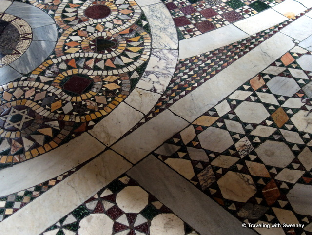 Mosaic floor in the Segnatura Room of the Raphael Rooms
