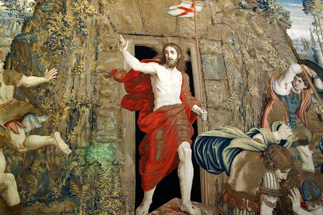 """The Resurrection of Jesus"" in Gallery of the Tapestries"
