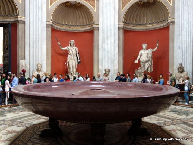 Porphyry Basin (Nero's Bath) in the Rotonda