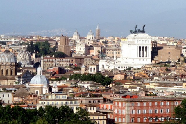 A hilltop view of Rome: The Eternal City