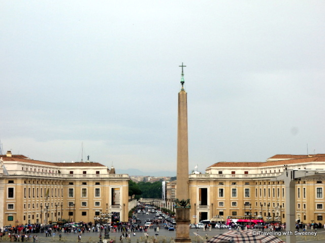 St. Peter's Square from the steps of St. Peter's Basilica