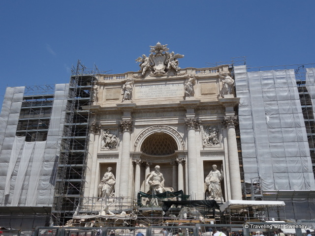 Trevi Fountain and Palazzo Poli under construction