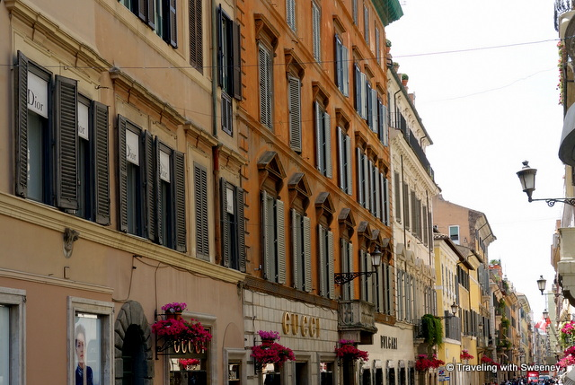 Designer shops on Via Condotti