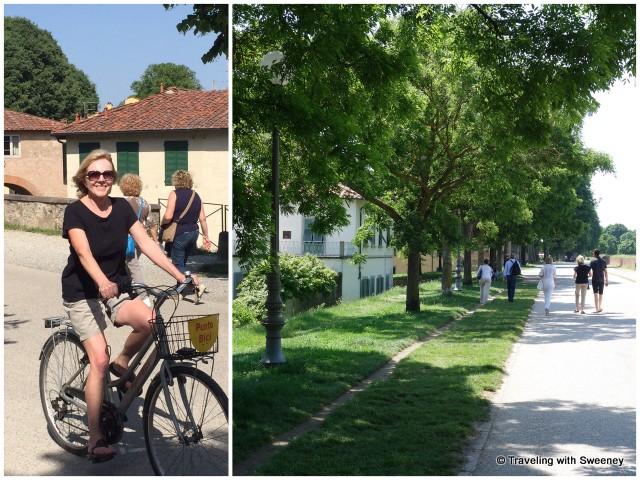 Biking and walking along the ancient walls