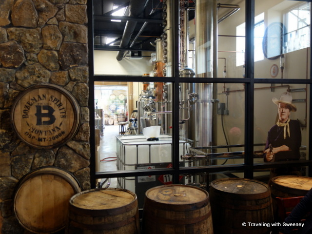 "Distillery of Bozeman Spirits with a cameo appearance by ""The Duke"", Bozeman, Montana"