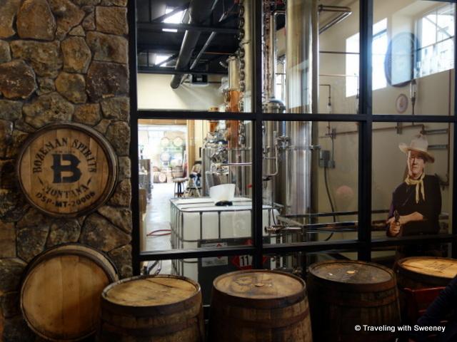 "Distillery of Bozeman Spirits with a cameo appearance by ""The Duke"", Bozeman, Montana"
