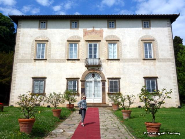 On the red carpet of Villa Buonvisi