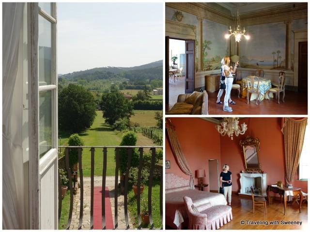Juliet balcony view, a bedroom, and second floor salon
