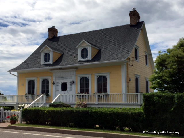 One of the charming and beautifully-maintained homes on Avenue Morel in Kamouraska