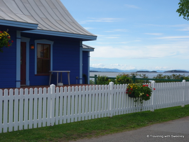 Lovely location of L'Amuse Bouche, a bistro on the Kamouraska waterfront