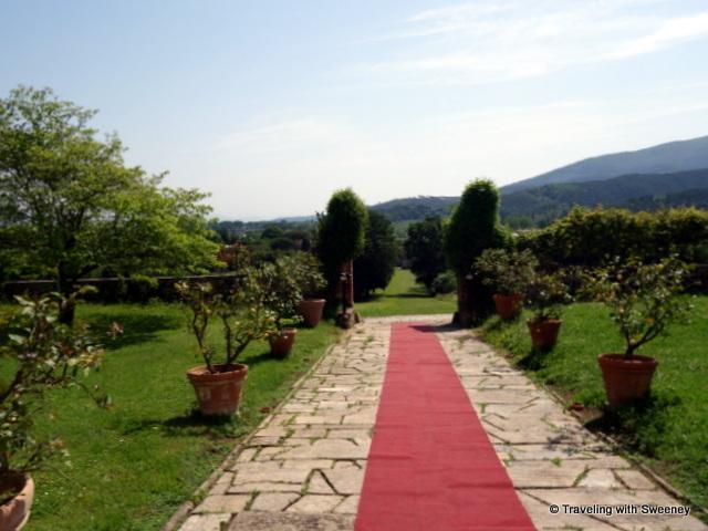 Pastoral scene from the entrance of Villa Buonvisi