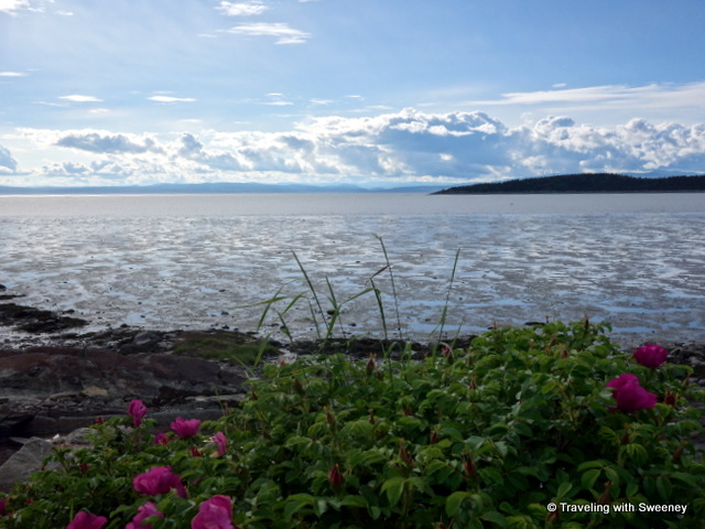 Low tide on the St. Lawrence River, Kamouraska, Quebec